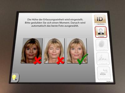 Passfoto-Erfassung